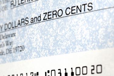 Printed check