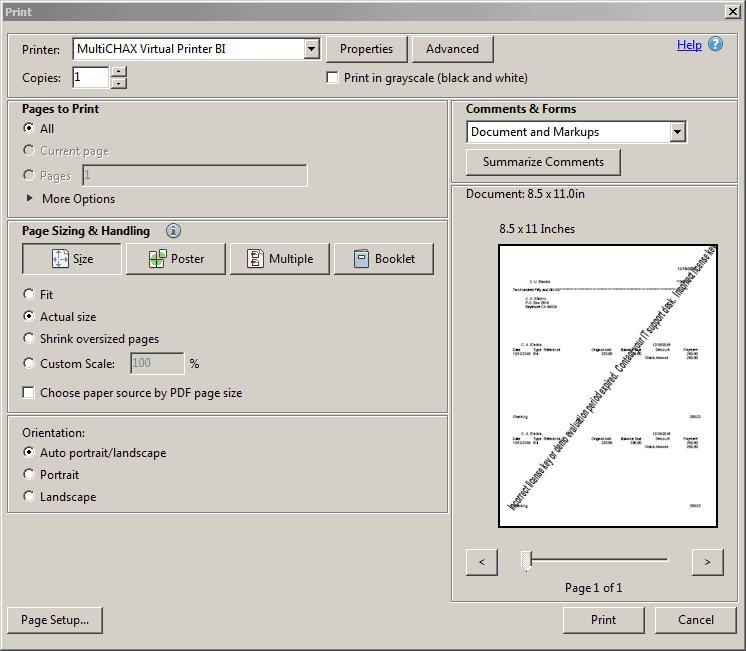 UniPrint settings 3