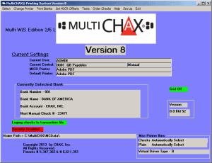 multichax main screen
