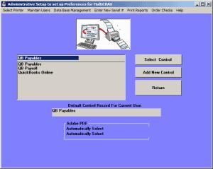multichax setup screen