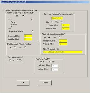 Set Descriptive Printing