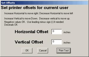 Set MICR Offsets
